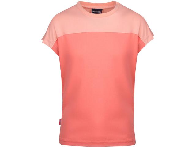 TROLLKIDS Bergen T-Shirt Kids, coral rose/apricot/lavender